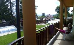 výhled z balkónu