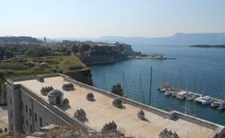 Výhled ze Staré pevnosti v Kerkyře