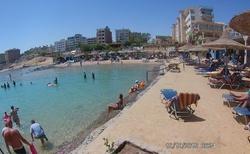 pláž  s písčitým podložím