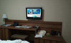 Pohled z lože na TV