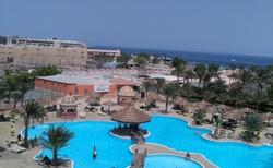 pohled z balkonu hotelu SEE GULL