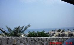 Výhled na moře od recepce