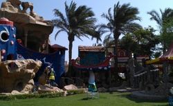 ZAHRADA HOTELU s dětským zábavním parkem