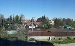 Pohled z okna hotelu