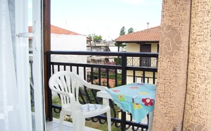 Pohled na balkon