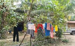 takhle suší místní prádlo