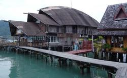Plovoucí vesnice.