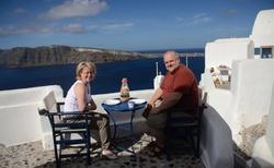 První snídaně na Santorini