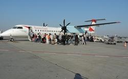 Cesta na Sicílii - letiště Vídeň