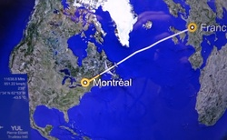 plán letu do Montrealu