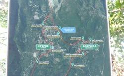Kerassias prameny - mapa cesty pramenů