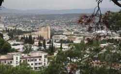 Tbilisi pohled shora na část města