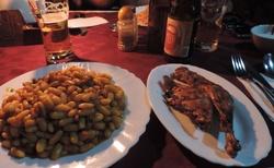 Ranomafana - hotel Manja - večeře