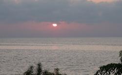 Ifaty - Villa Maroloko - západ slunce nad Mozambickým průlivem