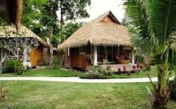 Jeden z bungalovů, v kterých jsme bydleli.