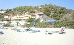 Část pláže