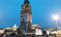Krakov - Rynek glowny - Radniční věž