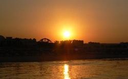 západ slunce nad Hurghadou