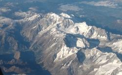 Alpy z letadla