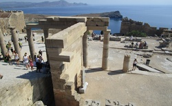 Pozůstatky řeckého amfiteátru