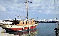 Trajekt z Evie na ostrov Skyros.