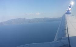 Cesta na Thassos - z letadla