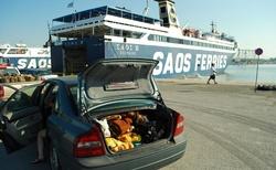 Nalodění v Alexandroupolis na loď plující 1x denně šlo jako po másle.