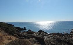 Rhodos -  Pláž Faliraki od Terme Calitea