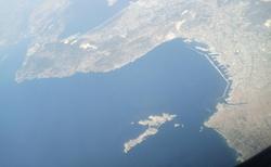 Letecký pohled na Barcelonu