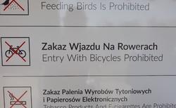 Wieliczka - Teznia solankova - zákaz vjezdu Rowerům