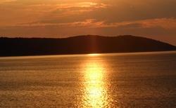 Západ slunce kousek od přístavu