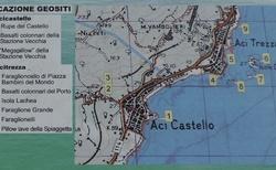 Sicílie - mapa pobřeží