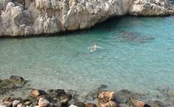 plážička u Almyros beach