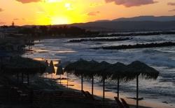 Západ slunce Agia Marina