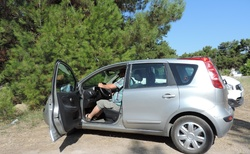 Skala Prinos hotel Artemis první sezení v autě